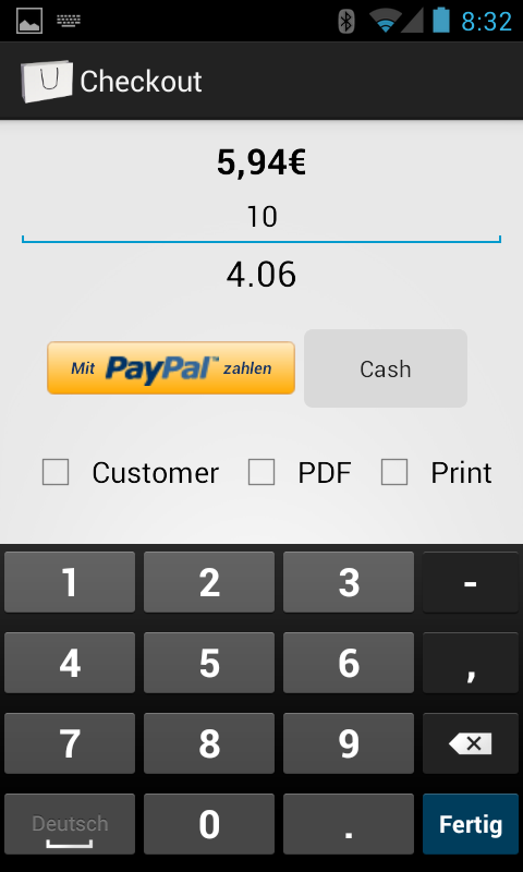 TabShop, the free Android Point of Sale POS Invoice App