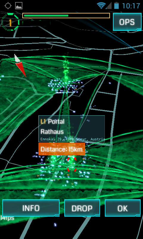 Ingress Augmented Reality massive Multiplayer Game Portal