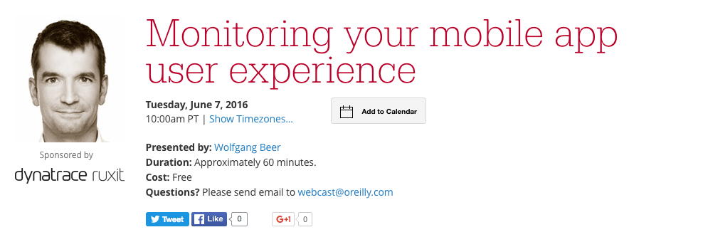 Webcast Monitor your mobile app user experience